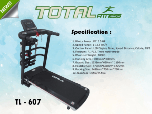 Treadmill Elektrik 3 in 1 TL607