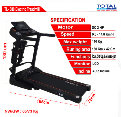 TL680-Treadmill-Elektrik-Murah